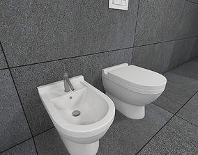3D toilet and bidet starck3 standing