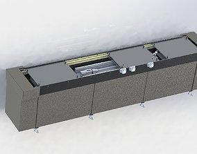 Speed-fold conveyor chains 3D model