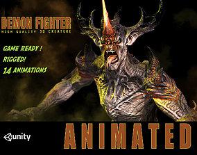 3D asset Demon Fighter