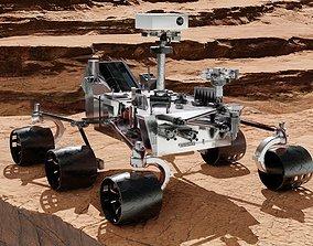 low-poly Mars Rover 3D model PBR materials