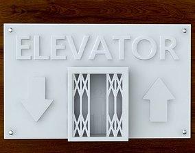 3d Printable Elevator sign STL OBJ