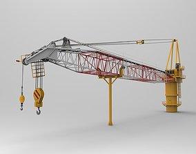Tower Crane 3D model boat