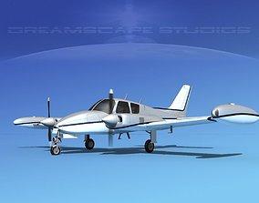 3D Cessna 310 V08
