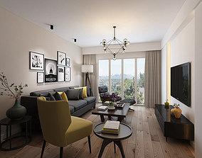 3D model interior Living room