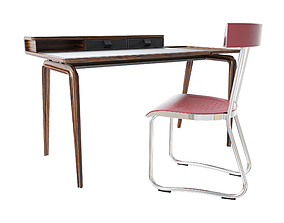 Molteni table NOTE chair D 235 2 3D model