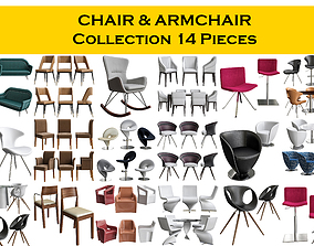 3D model CHAIR ARMCHAIR Collection 14 Pieces
