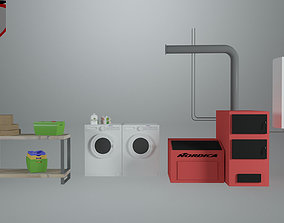 3D model Utility Room - Game Ready