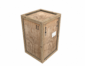 Old Wooden Cargo Crate 4 PBR 3D model