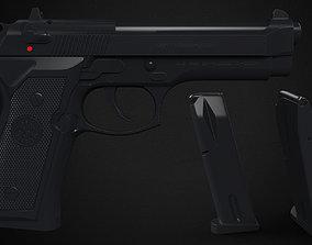 M9 Beretta - High poly 3D