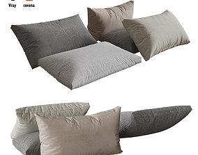 Pillows set 04 fabric 3D