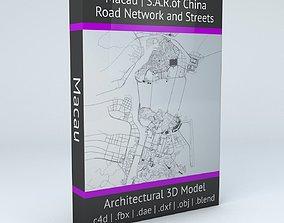 Macau Road Network and Streets 3D model