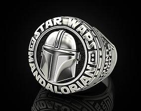 Star Wars Mandalorian Ring 3D print model