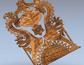 3D print model carving ornament