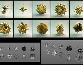 3D model Set of Abstract Simple Geometric Shapes