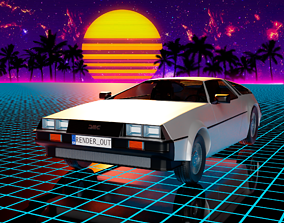 DeLorean DMC-12 1981 3D asset realtime