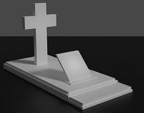 Grave 3D spooky