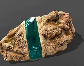 Decoration Stone Emerald 3D
