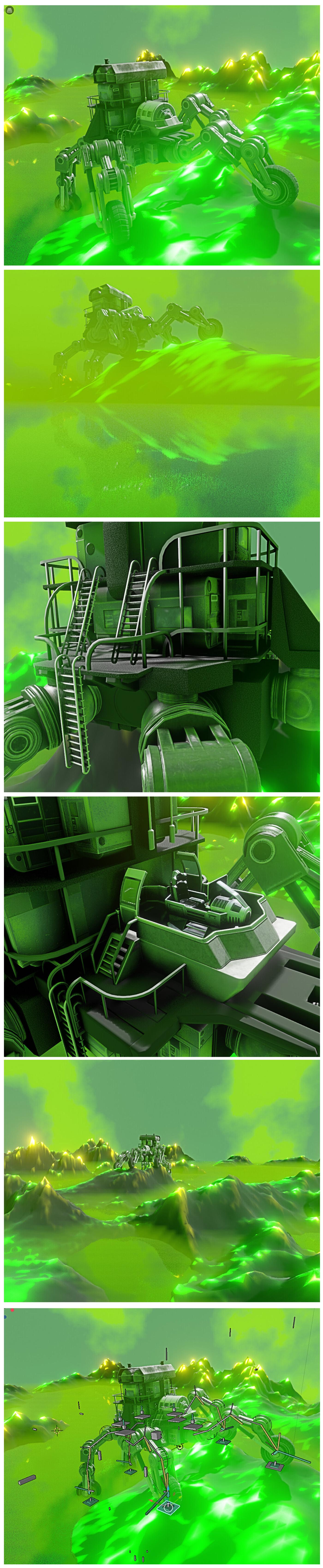 Five Wheeler (Blender 2.8 Version)