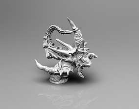 3D printable model Attacking Demonic Screamer with sting
