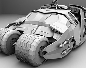 Detailed Batmobile From Batman Begins 3D model