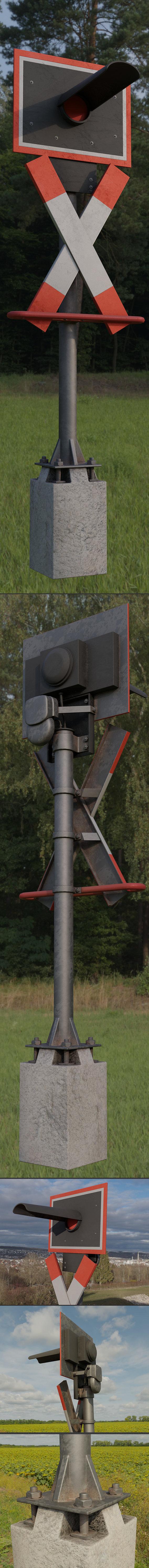 Low-Poly and PBR-Textured Andreaskreuz Version 1 (Blender-2.92 Eevee)