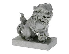 3D asset Komainu Statue