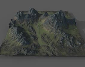 3D model Alpine Landscape -