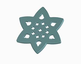 3D printable model Attractive Star Lotus Wall Hanging