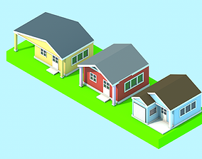 House cartoon buildings 3D model