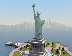 3D asset Statue of Liberty Island