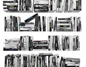 Books 150 pieces 2-3-4 3D model