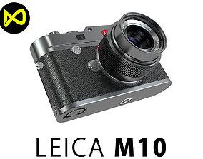 Leica M10 Black Flagship Camera 2017 3D model
