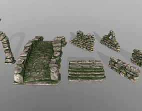 ruin set 3D asset realtime