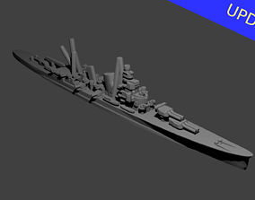 3D print model Japanese Aoba Class Cruiser Warship