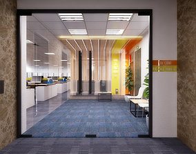 3D model Office building interior Multiform spaces