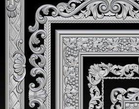3D printable model Lot of 5 pcs Carved Frame Collection
