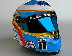 Fernando Alonso 2015 F1 Schuberth Helmet 3D asset