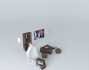 3D model The lounge Soho Houses of the world