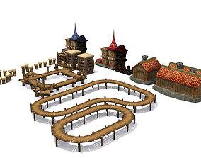 Wooden environment 3D asset