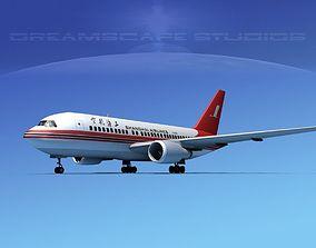 Boeing 767-200ER Shanghai 3D model