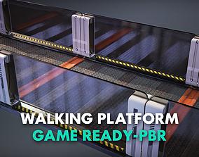 Modular Walking Platform -Game Ready- PBR 3D model