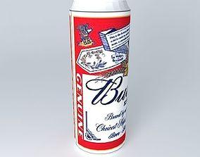 Budweiser beercan 3D model