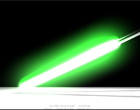 space 3D model Lightsaber