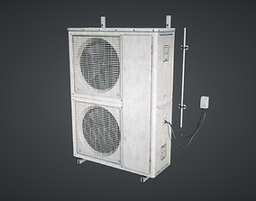 3D asset External air conditioner Double