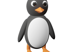 Penguin subdivision-ready 3D model
