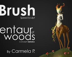 Centaur of wood - from Youtube Zbrush 3D print model