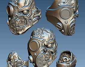 GasMask Skull ring 3D print model
