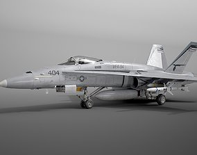 McDonnell Douglas FA-18C Hornet rigged 3D model