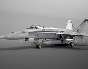 McDonnell Douglas FA-18C Hornet rigged 3D