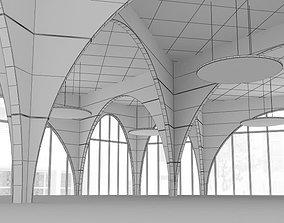 Spacious Empty Garage 3D model
